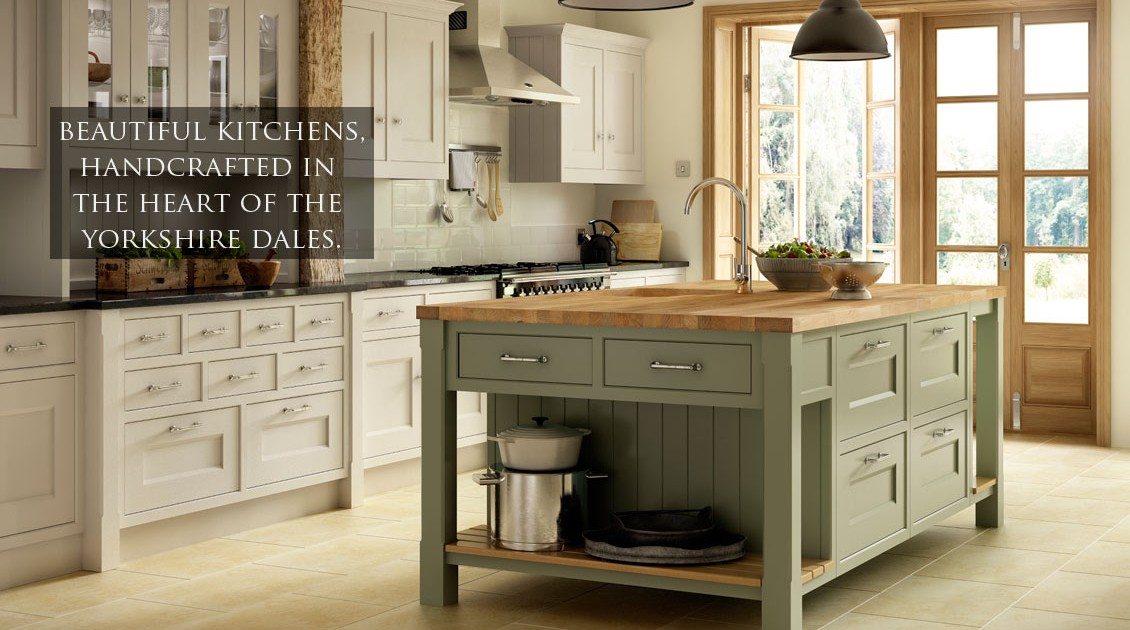 Painted county style handmade kitchen